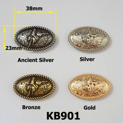 KB901 Bullfighting Knight Conchos 38x23mm 1pc/bag