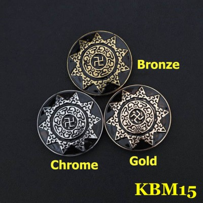 KBM15 Alloy Swastike Cross Conchos 30mm 1pc/bag