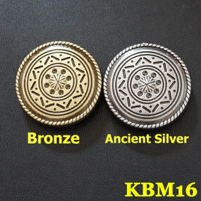 KBM16 Carved Flower round Conchos 29mm 1pc/bag