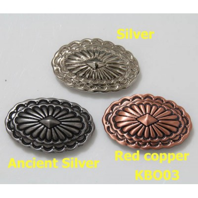 KBO03 Oval Slotted Conchos 48x28mm 1pc/bag