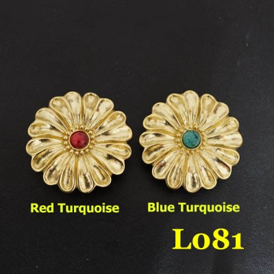 L081 Conchos Turquoise Wholesale 30mm 1pc/bag