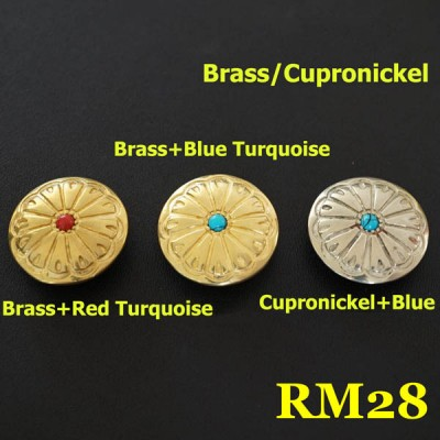 RM28 Pure Copper Flower Conchos 26.5mm 1pc/bag