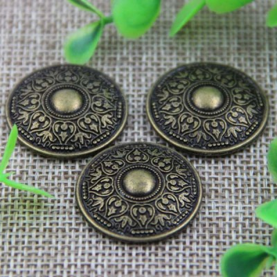 G011 Retro Style Round Flower Rivet 25mm 100pcs/bag