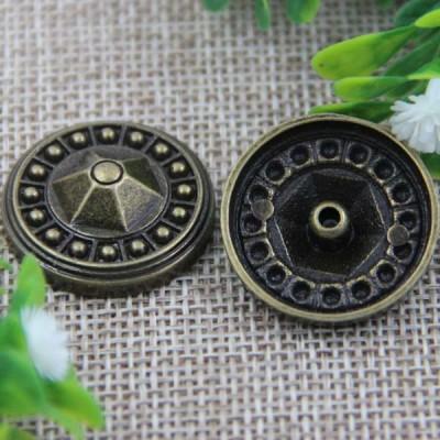 G015 Convex Flower Rivet 25mm 100pcs/bag