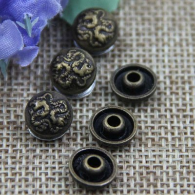 G016 Double Dragon Bronze Rivet 9mm 100pcs/bag