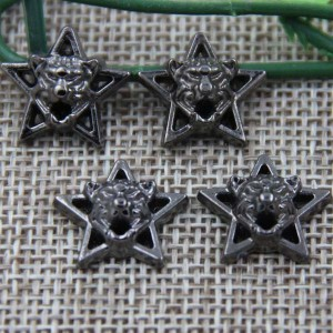 G048 Pentagram Leopard Head Rivet 17mm 100pcs/bag