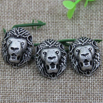 G062 Leopard Head Sew Spikes 29x23mm 100pcs/bag
