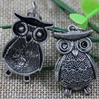 G063 Owl Sew Spikes 35x21mm 100pcs/bag