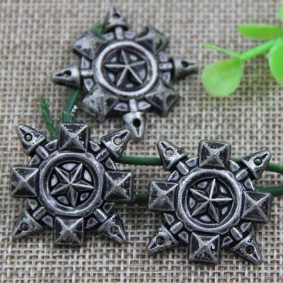 G079 Flower pentagram Sew Spikes 27mm 100pcs/bag