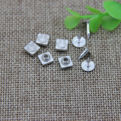 G103 Smile Face Customized Denim Rivet Buttons 7mm 1000pcs/bag