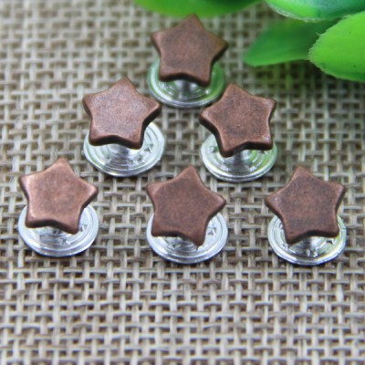 G104 Pentagram Customized Denim Button Rivets 8mm 1000pcs/bag