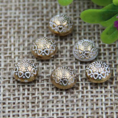 G116 Decorative Pattern Dome China Denim Jeans Button Rivets 7mm 1000pcs/bag