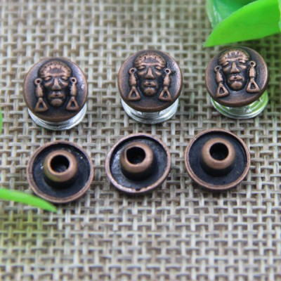 G123 The Elderly Head Decorative Denim Rivet Buttons 9mm 1000pcs/bag
