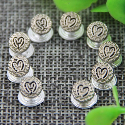 G126 Round Alloy Colors Decorative Denim Buttons 7mm 1000pcs/bag