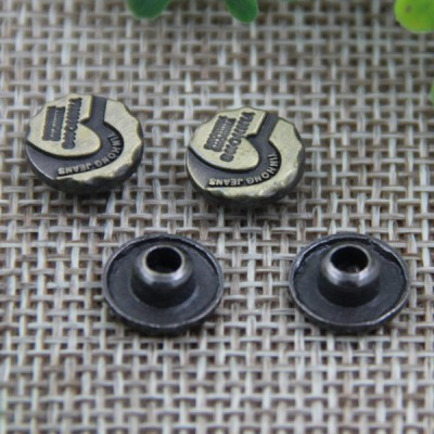 G127 Alloy Irregular Garment Denim Rivet Buttons 10mm 1000pcs/bag