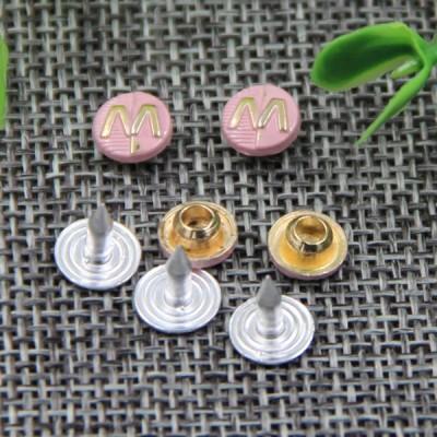 G131 Letter M Denim jeans Rivet Buttons 7mm 1000pcs/bag