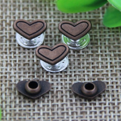 G136 Heart Customized Demin Button Rivets 6mm 1000pcs/bag