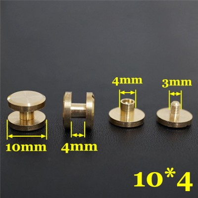 FF1044 Flat Head Chicago Screw Posts 10x4x4mm 100pcs/Bag