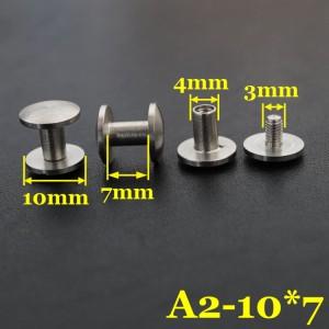 white stainless steel screws