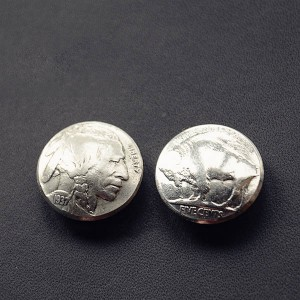 NA014 Indian Head Conchos 21mm
