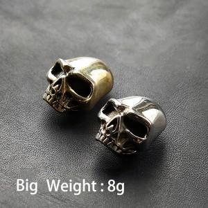 NA003 Brass Cupronickel Skull 12x16mm
