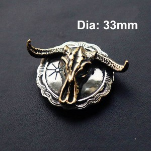 NA037 Indian Bull Skull The Conchos 33mm
