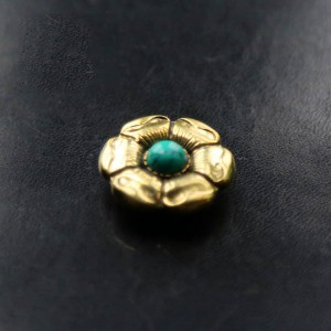 NA045 Flower Conchos Turquoise conchos 26mm