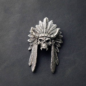 NA055 Chief of Indian Skull 58x37mm