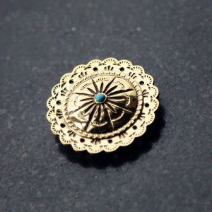 NA058 Turquoise Conchos Brass 30mm/38mm