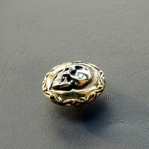 NA069 Side Face Skull Conchos 24mm
