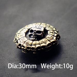 NA073 Skull Death Clock Conchos  30mm