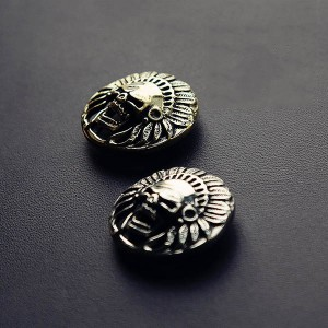 NA076 Relief Skull Indian Chief Conchos 30mm