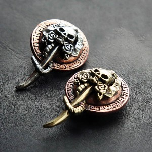 NA080 Love and Death (Skulls and Roses) Conchos 24x62mm