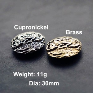 NA084 Japanese Lucky Toad Conchos 30mm