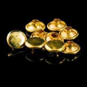 Double cap brass rivets