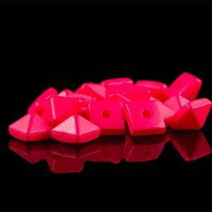 Red color plastic pyramid rivet