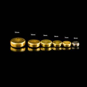 Brass flat head rivets