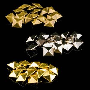 Metal pyramid rivet