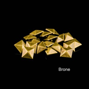Bronze color pyramid rivet