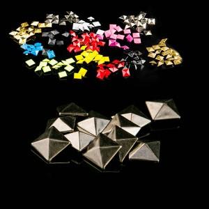 Brass pyramid rivet