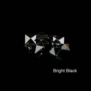 Bright black color pyramid rivet