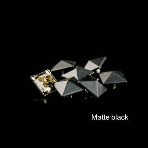 Matte black color  pyramid rivet