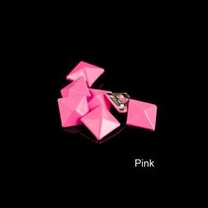 Pink color pyramid rivet