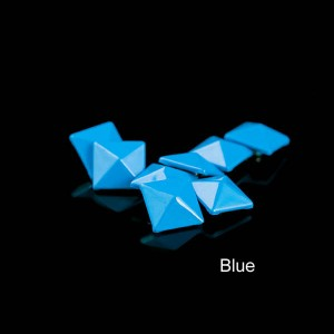 Blue color pyramid rivet