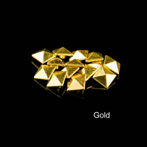Gold color pyramid rivet