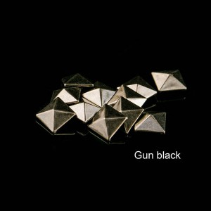 Gun black color pyramid rivet