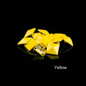 Yellow color pyramid rivet