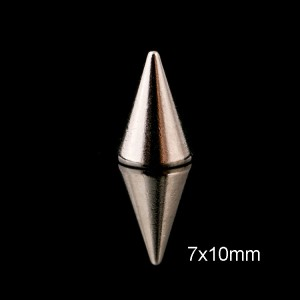 NO13 Cone Silver Spike 7x10mm
