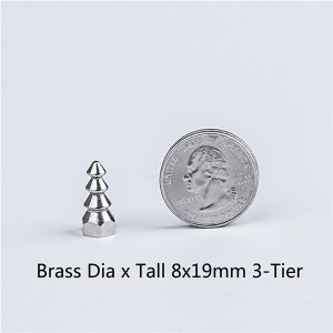 dia x ta ll 8x19mm 3-tier brass punk spikes wholesale 1